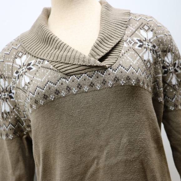 Studio Works Brown Vneck Long Sleeve Sweater